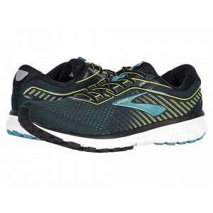 Brooks Ghost 12 Black/Lime/Blue Grass [Clearance Sale]