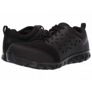 Reebok Work Sublite Cushion Work Comp Toe ESD Black [Sale]