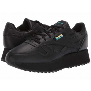 Reebok Lifestyle Classics Leather Double Gigi-Black/White/Glacier [Sale]